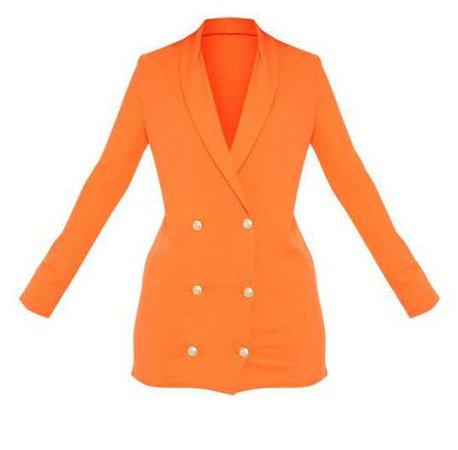 orange blazer dress