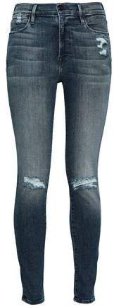 Le High Faded High-rise Skinny Jeans
