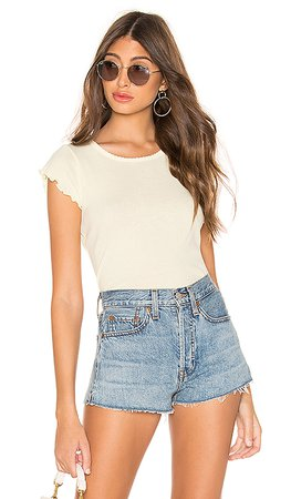 Chaser Flouncy Crew Neck Tee in Chick | REVOLVE