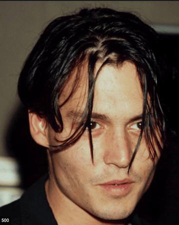 dark 90s hair