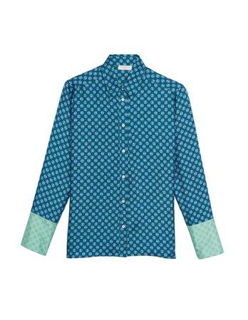 Printed silk shirt - Tops & Shirts | Sandro Paris