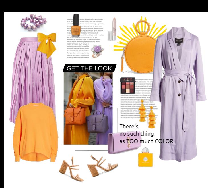 Get the look - lilac & orange