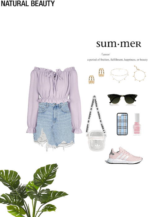 summer outfit 🤍🌸🦋🍭⚡️💜