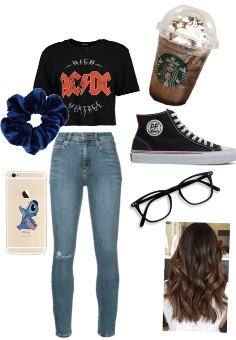 my college look🤷🏽♀️🥰➰